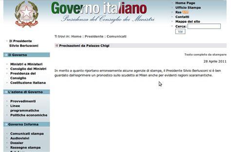 sito consiglio dei ministri precisazioni quot scaramantiche quot da palazzo chigi