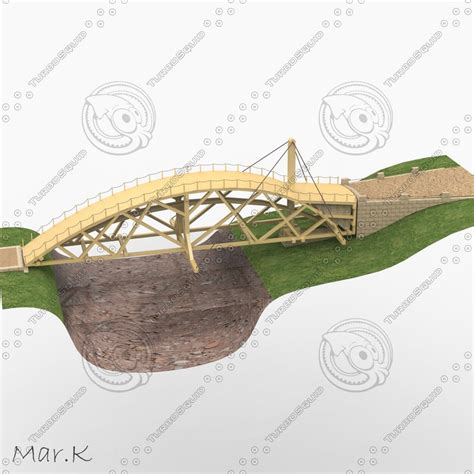 swing bridge model swing bridge 3d obj