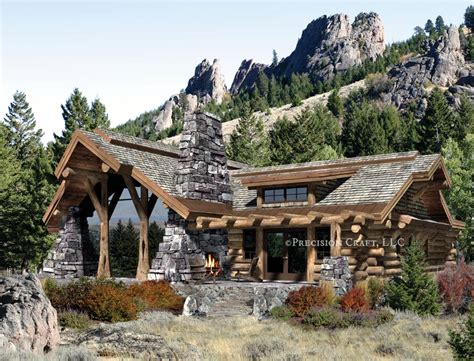 Caribou Log Home Floor Plan By Precision Craft Mountain Log House Plans