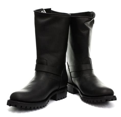 mens black biker style boots grinders s buckled biker boots in black style turbo