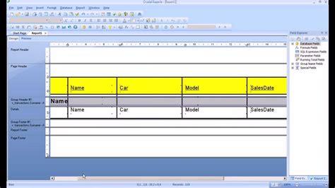 tutorial visual studio crystal reports crystal reports tutorial create a report sort and group