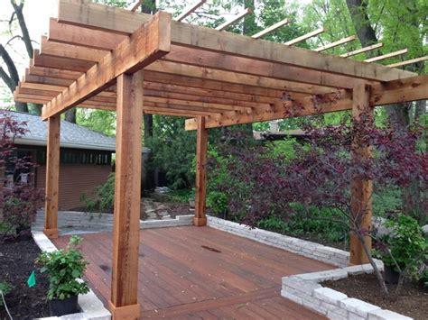 Zen style pergola with Ipe deck in Columbus OH