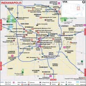 Indianapolis Map Usa by Road Map Of Indianapolis