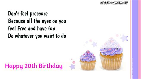 Happy 20th Birthday Wishes Quotes Happy Wishes Quotes Images Memes Messages