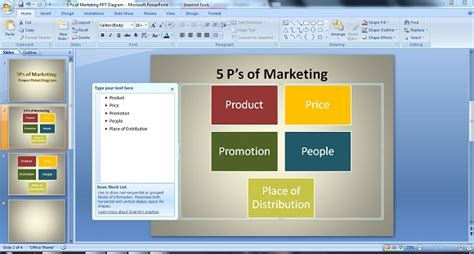 themes for marketing presentations how to create the perfect 5ps of marketing powerpoint diagram