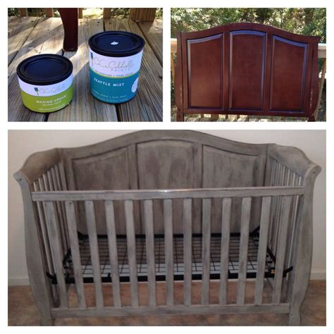 Diy Painted Crib Cece Caldwell Chalk Paint Baby Room Painting Baby Crib