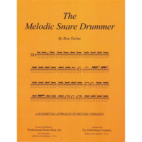 melodic stick books the melodic snare drummer by tierno snare drum