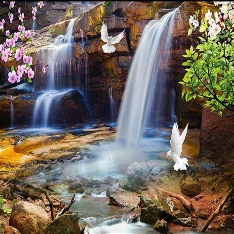 beibehang beautiful waterfalls water rich natural