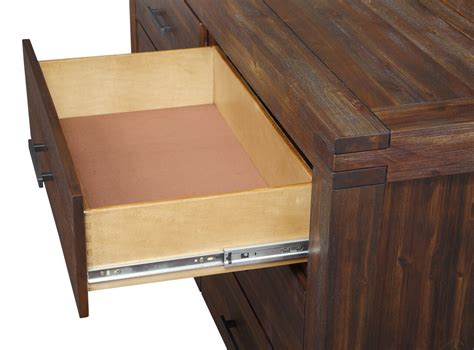 Open Drawer by Meadow Solid Wood Dresser With Mirror By Modus Usa