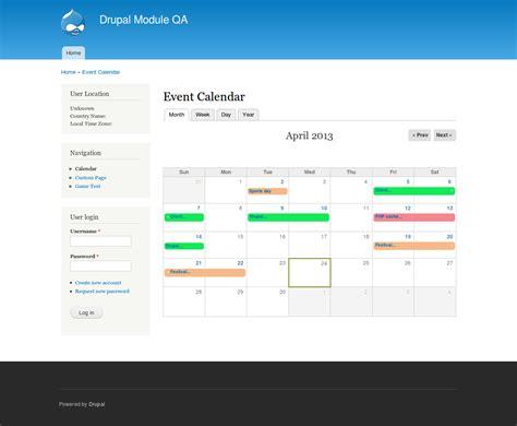 event calendar drupalorg