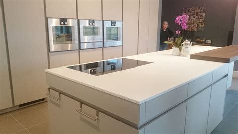 corian island white corian kitchen worktop installation in leamington spa