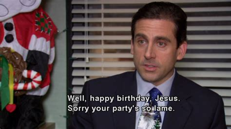 christmas jesus michael scott the office image