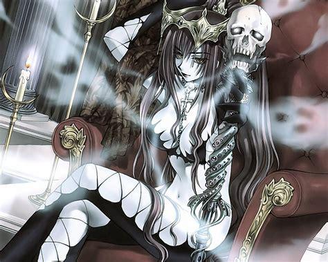 anime queen wallpaper dark anime girl wallpaper wallpapersafari
