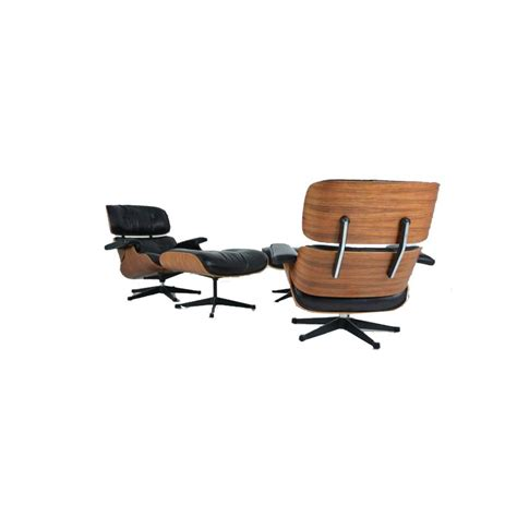 vintage lounge chair and ottoman in rosewood by eames