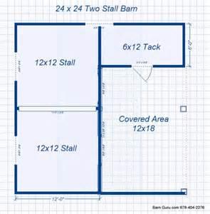 Small Horse Barn Floor Plans by Barn Plans 2 Stall Horse Barn Design Floor Plan