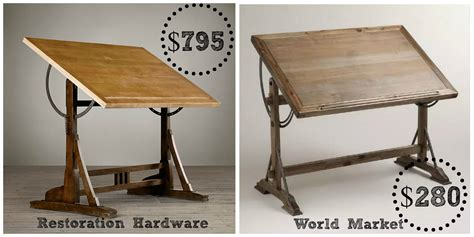 World Market Drafting Table Restoration Hardware 1920 S Drafting Table Decor Look Alikes