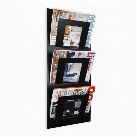 3 Tier Magazine Rack by Wall Mounted Three Tier Magazine Rack By The Metal House