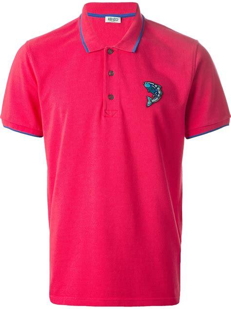 Polo Shirt Kenzo Premium kenzo fish polo shirt in purple for pink purple lyst
