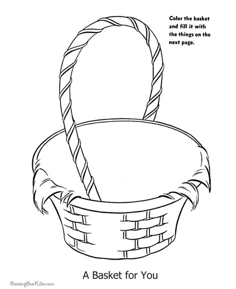 coloring pages of easter baskets pin easter basket coloring page on