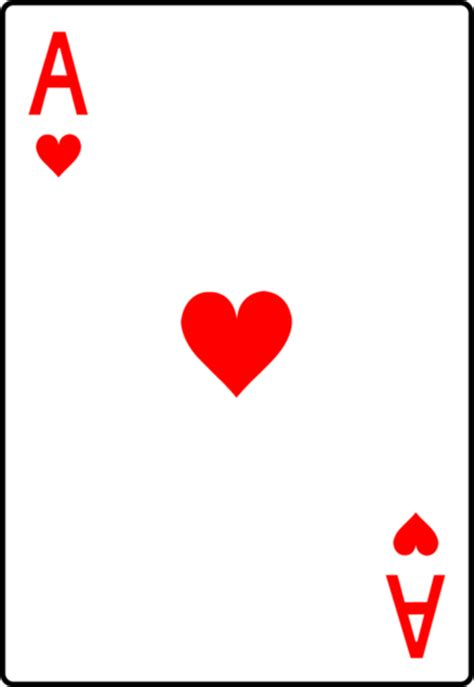 Ace Card Template by Ace Of Hearts Card Free Clip