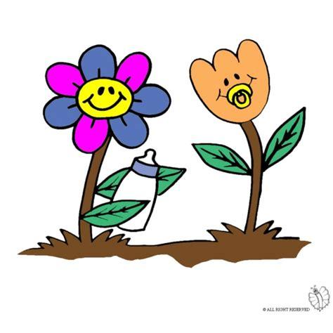disegni di fiori a colori disegno di fiori animati a colori per bambini