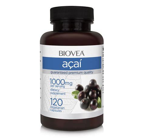 acai berry 1000mg 120 capsules biovea supplements