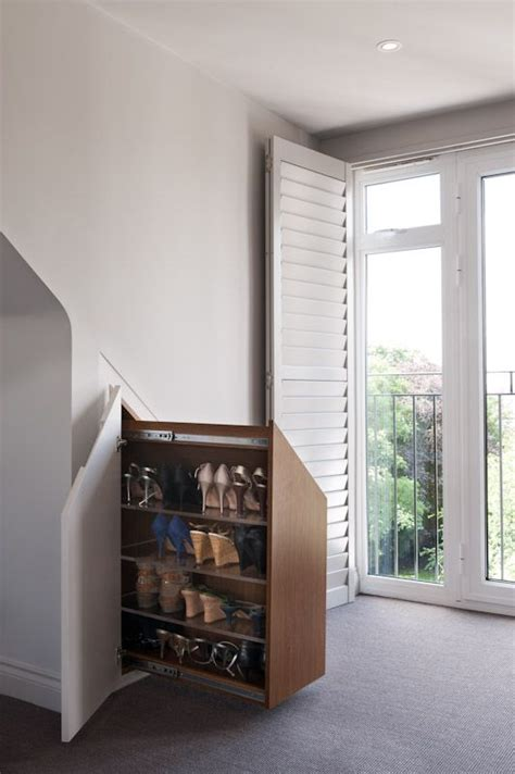 Bedroom Eaves Storage Pull Out Shoe Cabinet The Eaves Design Ideas Of