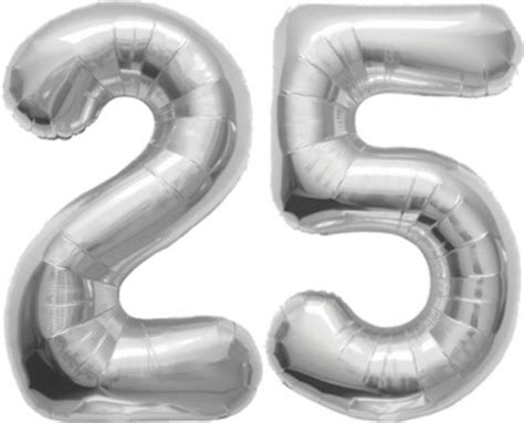 25 jaar getrouwd brons zilver goud bol 25 jaar getrouwd folie ballonnen zilver fun