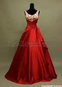 red v neck simple beach wedding dress img 6922 1st dress com