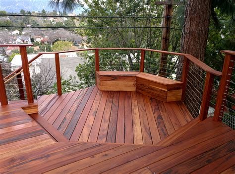 Wood Decking by Wood Deck Installation Prices Estimate The Cost Of