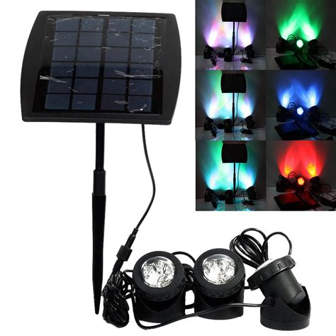 Portable Outdoor Solar Power Led Spotlight Rgb Cold White Led Lights Outdoor