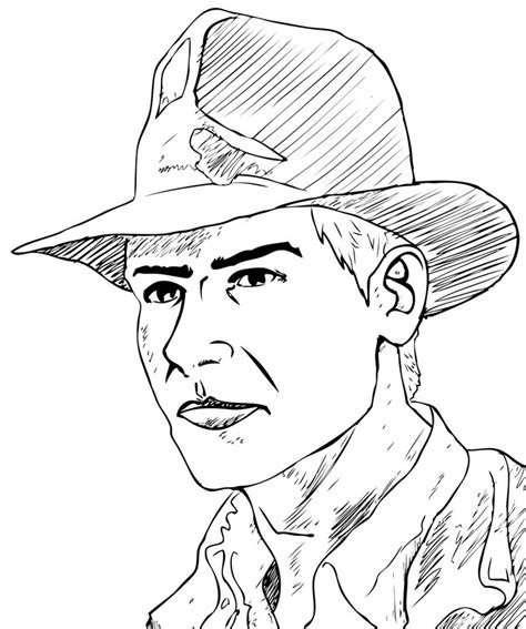 indiana jones coloring book pages indiana jones face