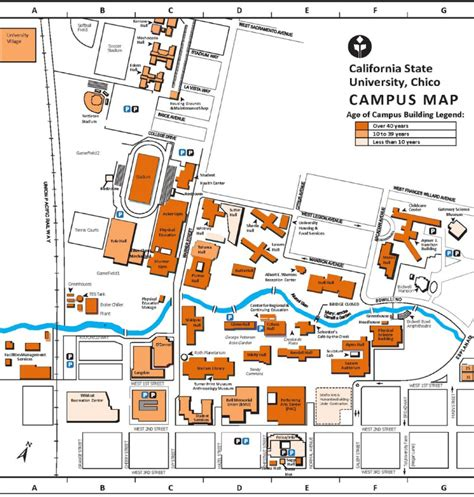chico state map map of chico state my