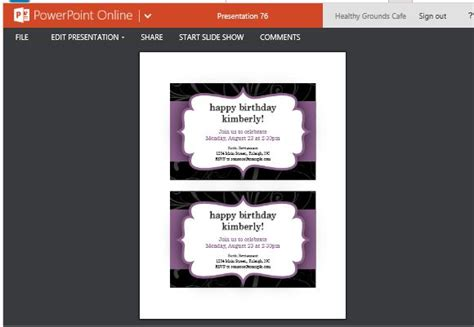 Party Invitation Templates For Powerpoint Online Powerpoint Announcement Templates