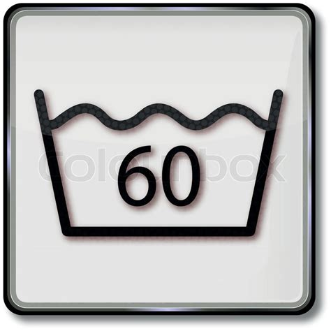 bettdecke 60 grad waschen textilpflegesymbol waschgang 60 grad vektorgrafik