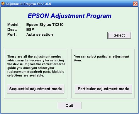 adjustment program or resetter epson tx210 adjustment program or resetter epson tx210 printer
