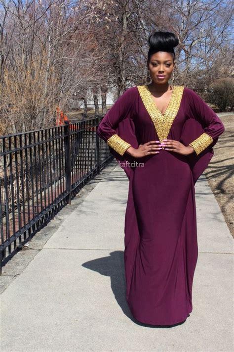 Naija Gini 2015 Female Caftan Styles | velove kaftan violet colour african fashion ankara