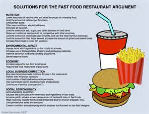 Fast Food Argumentative Essay by High Five For Friday 12 6 13 Kristen Dembroski Ph D