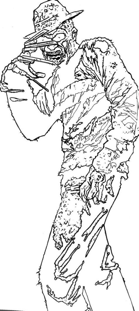 freddy krueger coloring pages printable coloring pages