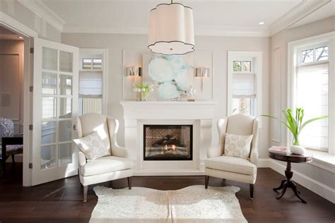 white dove paint living room transitional with walls