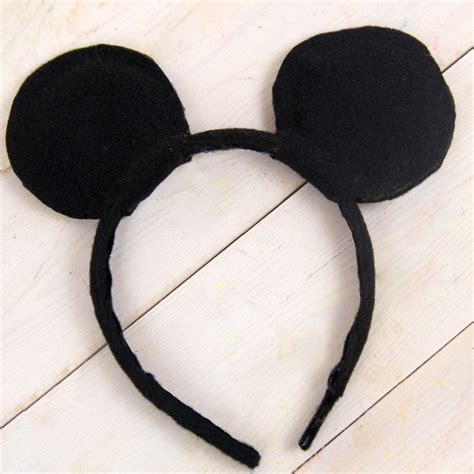 How To Make Mickey Mouse Ears With Construction Paper - diy mickey mouse ears
