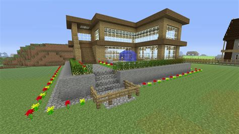 minecraft survival house minecraft tutorial how to make an awesome wooden survival house 2 ash 16 youtube