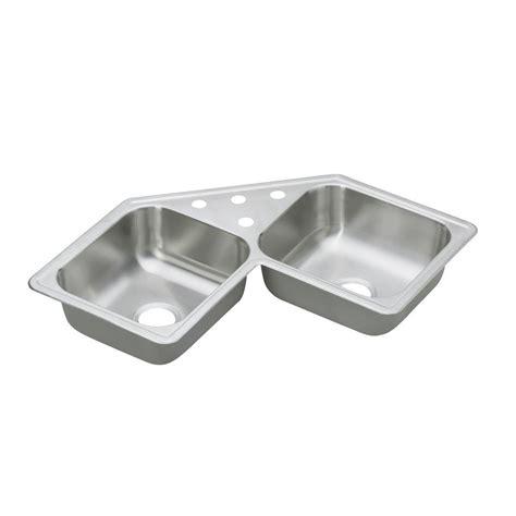 Dayton Kitchen Sink Elkay Dayton Top Mount Stainless Steel 33 In 2 Bowl Kitchen Sink D233224 The Home