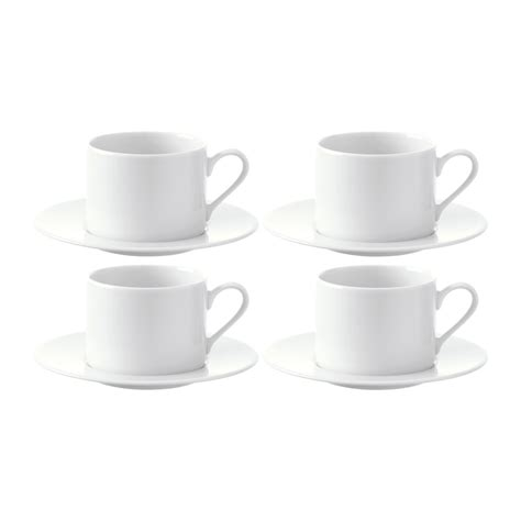 Coffee Cup With Saucer buy lsa international dine tea coffee cups saucers set