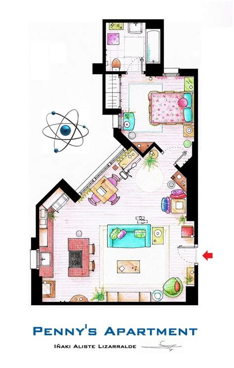 big bang theory floor plan what s up blog