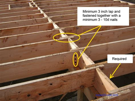 Building Code Requirement Floor Joists Inspect2code House Floor Joists Construction
