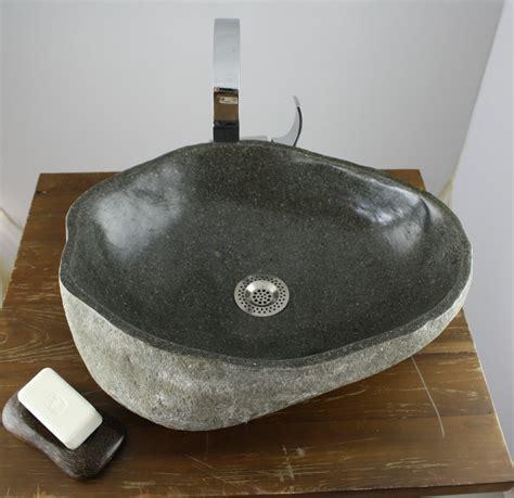 waschbecken luxus waschbecken aufsatz findling kiesel stein naturstein
