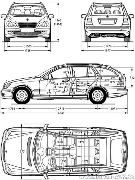 Wie Lang Ist Ein Auto by S203 Masse Wie Lang Ist Ein C Klasse Kombi Mercedes C