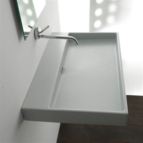 contemporary bathroom sinks ws bath collections 100 wall mount sink 39 4
