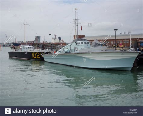motor boat dog motor torpedo boat 102 and motor gun boat 81 at portsmouth